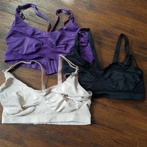 Bravado Designs lot of 3 maternity nursing bras, L
